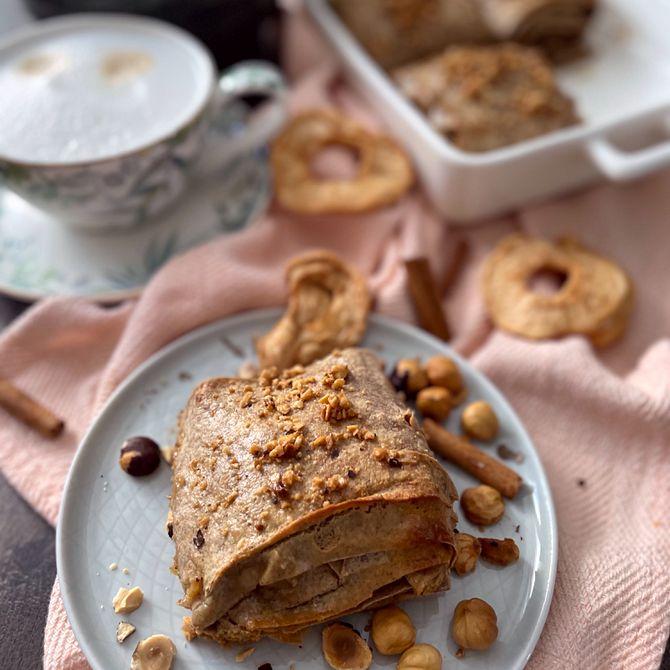Náhľad receptu Škoricové závitky z lavaša plné domácej orieškovej pasty, škorice a jabĺk