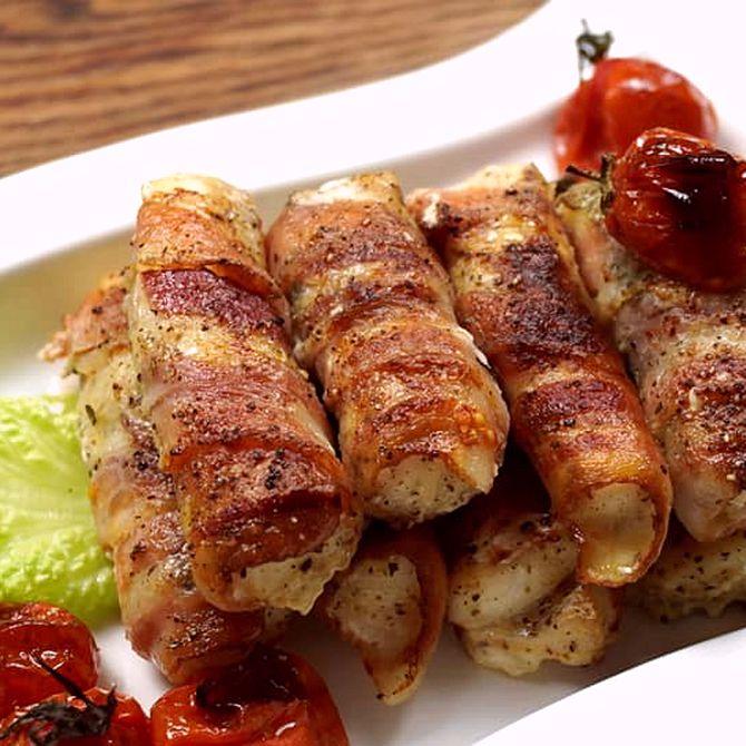 Náhľad receptu Kuracie prsia v slaninovom obale