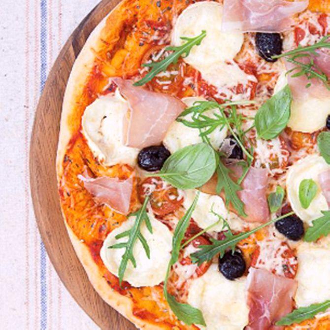 Náhľad receptu Pizza s kozím syrom a parmskou šunkou