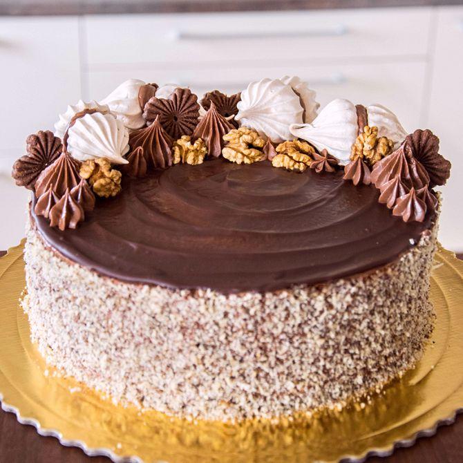 Náhľad receptu Čokoládovo orechová torta