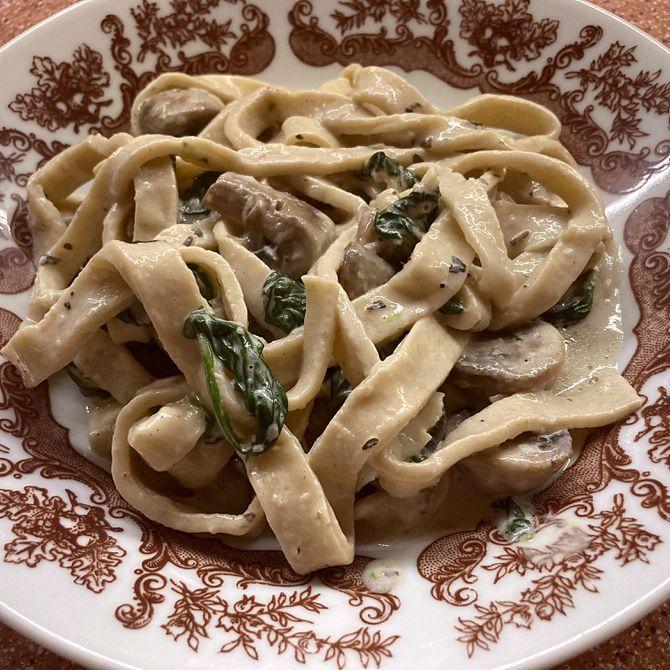 Náhľad receptu Domáce rezance so špenátom