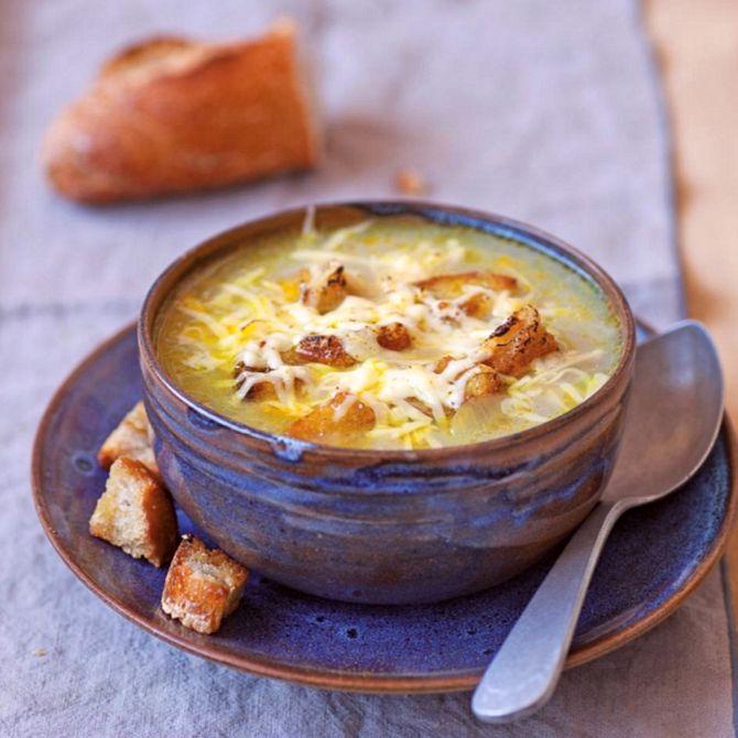 Náhľad receptu Francúzska cibuľová polievka